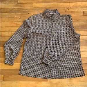 2/$25 - ALIA dotted button-up blouse - 14 (XL)